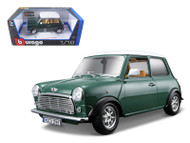 1969 Old Mini Cooper Green 1/18 Diecast Car Model By Bburago 12036