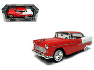 1955 Chevrolet Bel Air Red 1/24 Scale Diecast Car Model By Motor Max 73229