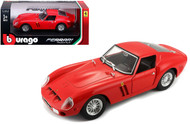 Ferrari 250 GTO Red 1/24 Scale Diecast Car Model By Bburago 26018
