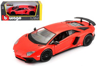 Lamborghini Aventador LP 750-4 Red 1/24 Scale Diecast Car Model By Bburago 21079
