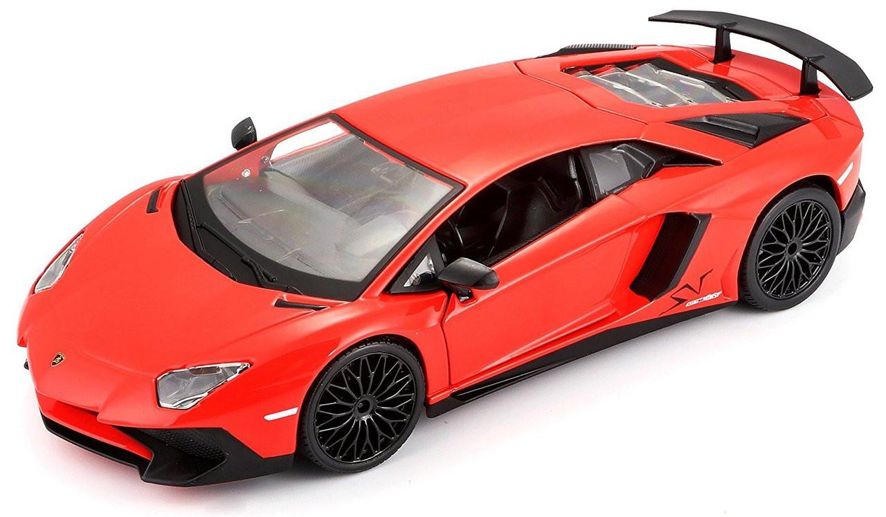 Lamborghini Aventador Lp 750 4 Red 1 24 Scale Diecast Car Model By Bburago 21079