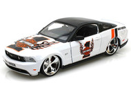 2010 Ford Mustang GT Harley Davidson #1 White 1/24 Scale Diecast Car Model By Maisto 32170