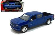2017 Chevrolet Silverado 1500 LT Z71 Crew Cab Black 1/27 Scale Diecast Model By Motor Max 79348