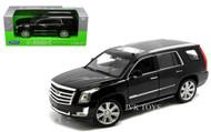 2017 Cadillac Escalade Black 1/24-27 Scale Diecast Car Model By Welly 24084