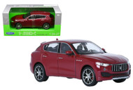 Maserati Levante Blue 1/24-27 Scale Diecast Car Model By Welly 24078