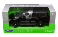 2008 Chevrolet Tahoe SUV Police Version Black 1/24 Scale Diecast Car Model By Welly 22509