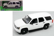 2008 Chevrolet Tahoe SUV Police Version White 1/24 Scale Diecast Car Model By Welly 22509