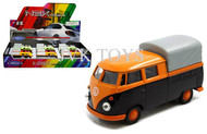 "Volkswagen T1 Double Cabin Truck Display Box Of 12 4.75"" Diecast Welly 49702"