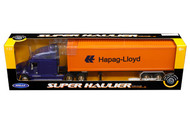Freightliner Columbia Hapag-Lloyd Container Semi Truck & Trailer 1/32 By Welly 32621