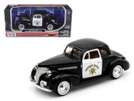 1939 Chevrolet Coupe California Highway Patrol Police 1/24 Scale Diecast Car Model By Motor Max 76453