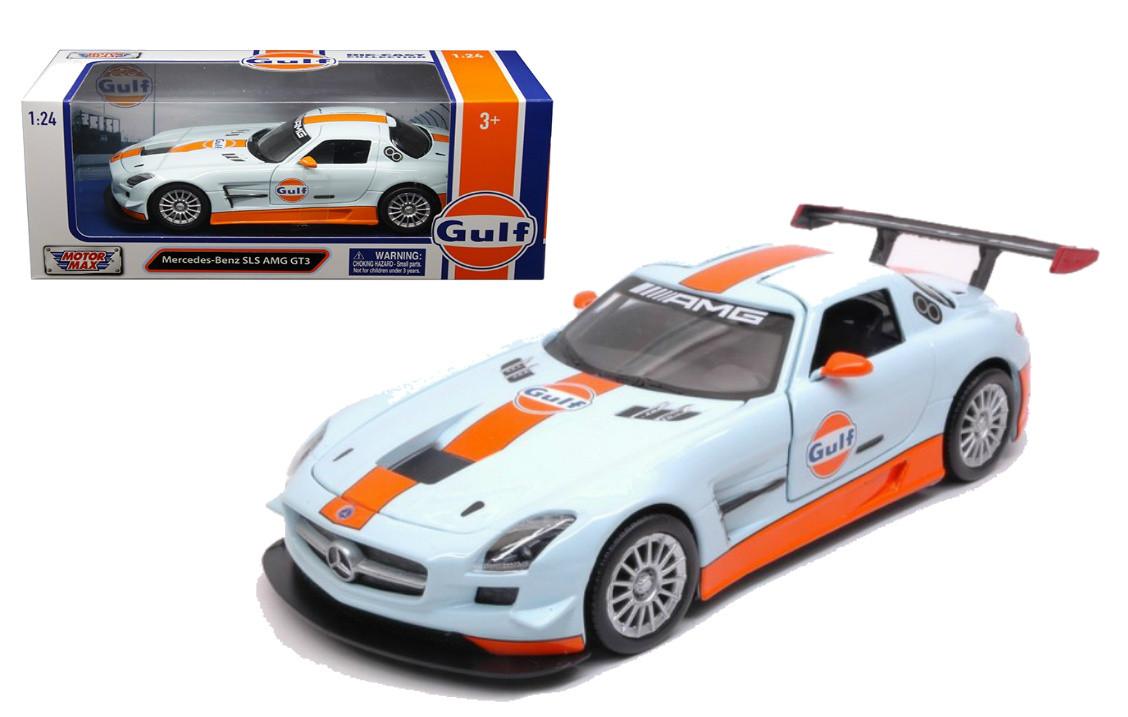 Mercedes Benz Sls Amg Gt3 Gulf Oil 1 24 Scale Diecast Car Model
