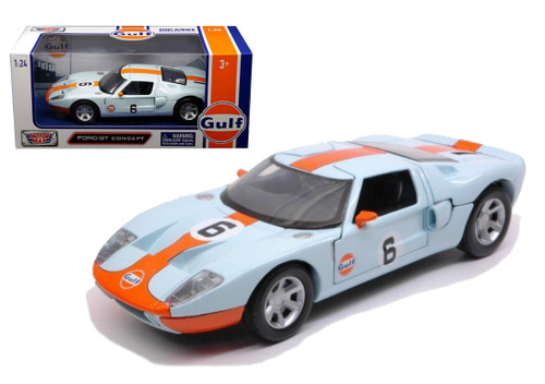Ford GT Concept Gulf Oil 1/24 Scale Diecast Car Model By Motor Max 79641
