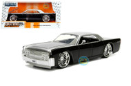 1963 Lincoln Continental Black Silver 1/24 Scale Diecast Car Model By Jada 99553