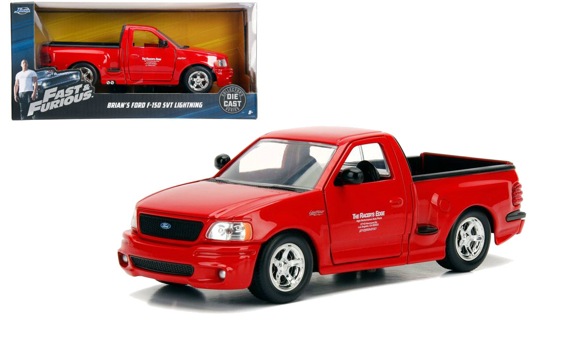 Ford F 150 Svt Lightning Truck Red Brians Fast Furious 1 24 By Jada 99574