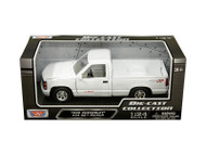 1992 Chevrolet SS454 Pick Up Truck White 1/24 Scale Diecast Model By Motor Max 73203
