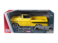 1958 Chevrolet Apache Fleetside Pick Up Truck Yellow 1/24 Scale Diecast Model By Motor Max 79311