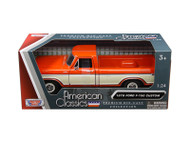 1979 Ford F-150 Pickup Truck Orange 1/24 Scale Diecast Model By Motor Max 79346