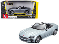 Fiat Spider Grey 1/24 Scale Diecast Car Model By Bburago 21083