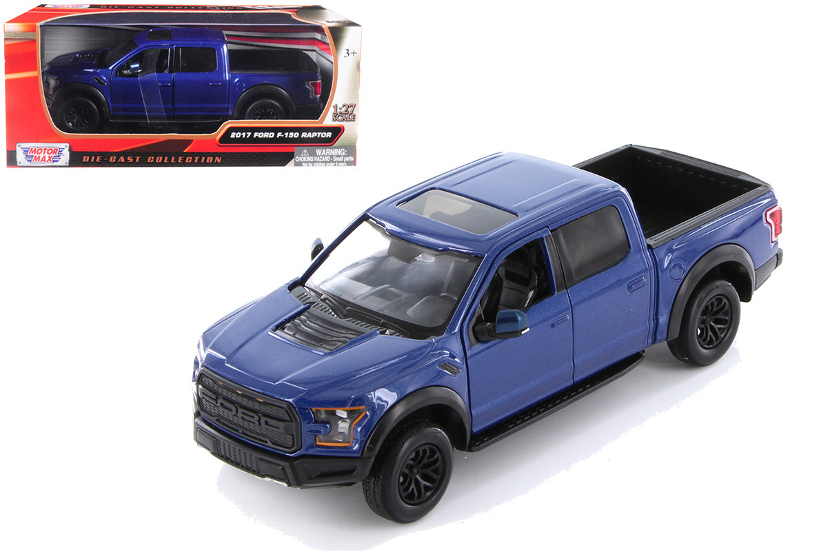 2017 Ford F 150 Raptor Truck Blue 1 24 Scale Diecast Model By Motor Max 79344