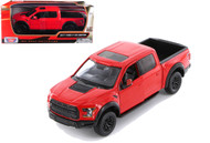 2017 Ford F-150 Raptor Truck Red 1/24 Scale Diecast Model By Motor Max 79344