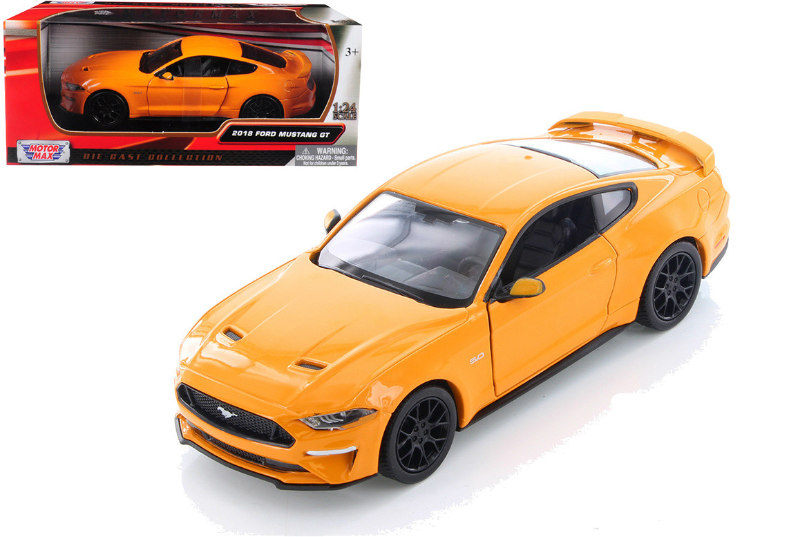 MotorMax 1:24 2018 Ford Mustang GT 5.0 with Black Wheels Model Car Blue 79352