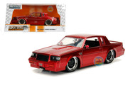 1987 Buick Grand National Candy Red BTM Big Time Muscle 1/24 Scale By Jada 30343