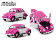 1967 Volkswagen Beetle Right Hand Drive Pink 1/18 Scale By Greenlight 13512