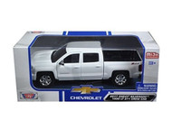 2017 Chevrolet Silverado 1500 LT Z71 Crew Cab White 1/27 Scale Diecast Model By Motor Max 79348