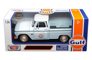 1966 Chevrolet C-10 Fleetside Pickup Truck Gulf Oil 1/24 Scale Diecast Model By Motor Max 79648