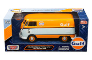 Volkswagen Type 2 T1 Delivery Van Bus Gulf Oil 1/24 Scale Diecast Model  By Motor Max 79649