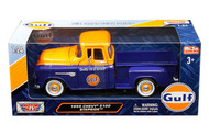 1955 Chevrolet 5100 Stepside Pickup Truck Gulf Oil 1/24 Scale By Motor Max 79651