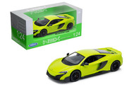 McLaren 675LT Coupe Green 1/24 Scale Diecast Car Model By Welly 24089