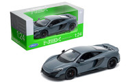 McLaren 675LT Coupe Grey 1/24 Scale Diecast Car Model By Welly 24089