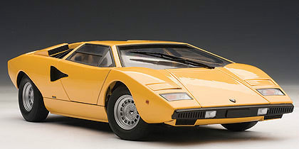 Lamborghini Countach Lp400 S Yellow 1 18 Scale Diecast Car Model
