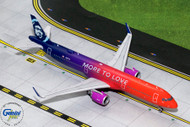 ALASKA AIRLINES A321NEO N297VA MORE TO LOVE 1/200 SCALE DIECAST MODEL BY GEMINI JETS G2ASA739