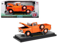 1958 Chevrolet Apache Stepside Truck Orange 5880 Made 1/24 Scale By M2 40300-64A