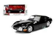 1967 Toyota 2000GT 2000 GT Black JDM Metals 1/24 Scale Diecast Car Model By Jada 99575