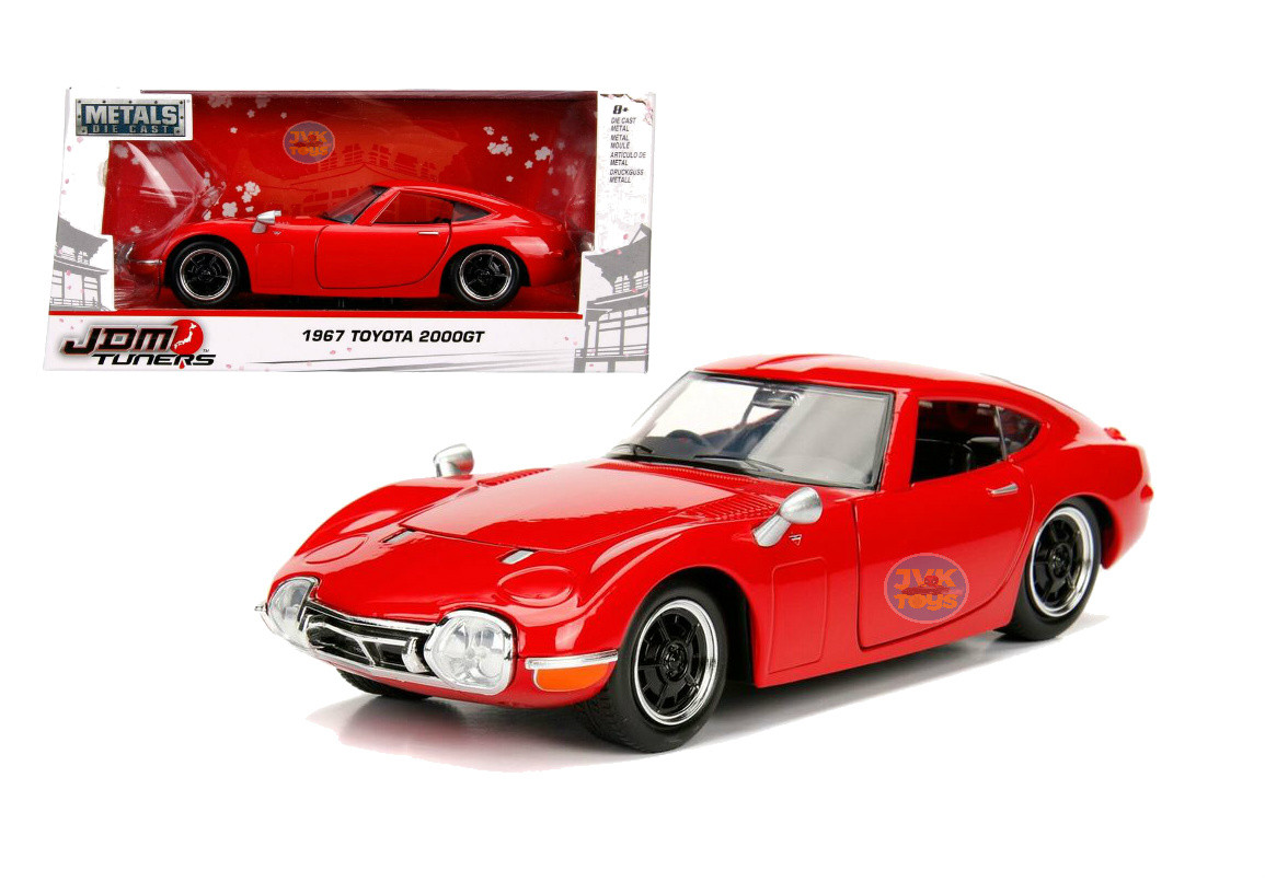 1967 Toyota 2000gt 2000 Gt Red Jdm Metals 1 24 Scale Diecast Car By Jada 30447