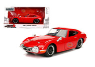1967 Toyota 2000GT 2000 GT Red JDM Metals 1/24 Scale Diecast Car By Jada 30447
