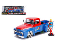 1956 Ford F-100 Truck DC Comics Bombshells With Supergirl Figure 1/24 Scale By Jada 30454