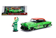 1953 Chevrolet Bel Air DC Comics Bombshells With Poison Ivy Figure 1/24 Scale By Jada 30455