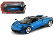 Pagani Huayra Blue 1/24 Scale Diecast Car Model By Motor Max 79312