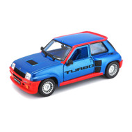 1982 Renault 5 Turbo Blue 1/24 Scale Diecast Car Model By Bburago 21088