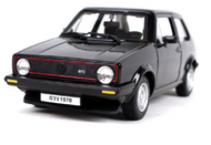 1979 Volkswagen Golf MK1 GTI Black 1/24 Scale Diecast Car Model By Bburago 21089
