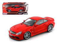 Mercedes Benz SL65 AMG Black Series Red 1/18 Scale Diecast Car Model By Motor Max 79161