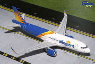 ALLEGIANT AIRBUS A320-200 SHARKLETS NEW LIVERY 1/200 SCALE DIECAST MODEL BY GEMINI JETS G2AAY664