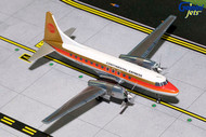 CONTINENTAL EXPRESS CV-580 RED MEATBALL N73106 1/200 SCALE DIECAST MODEL BY GEMINI JETS G2COA291