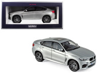 2015 BMW X6 M Silver Metallic 1/18 Scale Diecast Car Model By Norev 183200