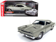 1969 Dodge Coronet R/T MCACN Silver 1002 Made 1/18 Scale By Auto World AMM1141