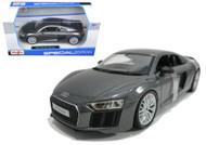 AUDI R8 V10 PLUS GREY METALLIC 1/24 SCALE DIECAST CAR MODEL BY MAISTO 31513